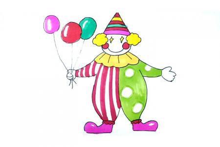 画马戏团的小丑简笔画