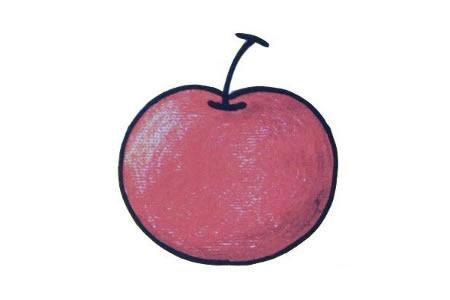 初级简笔画 苹果