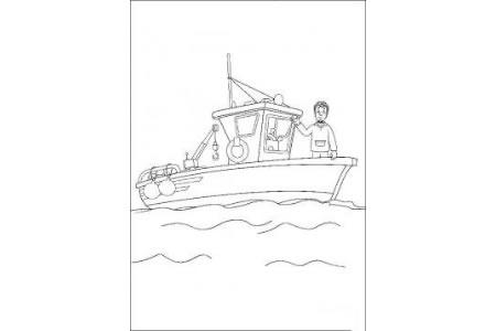 救援船简笔画图片