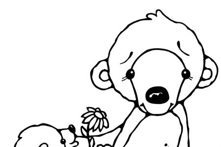 卡通北极熊