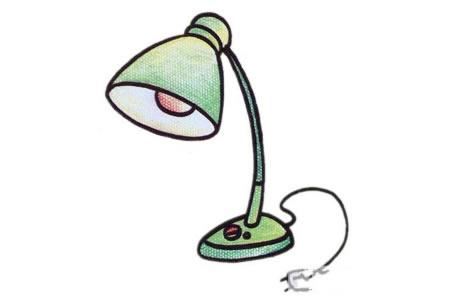 简单的台灯简笔画教程