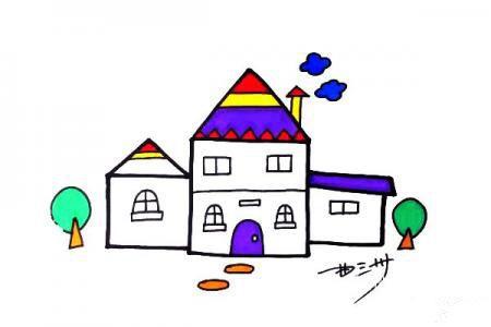 简笔画小房子