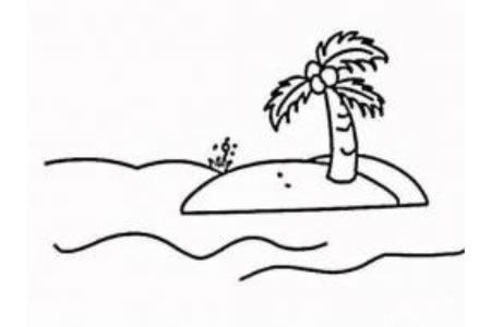 椰子树简笔画大全
