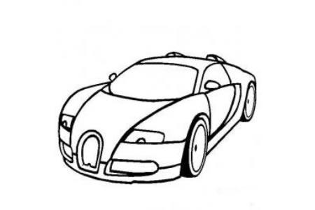 超级跑车布加迪威龙简笔画图片