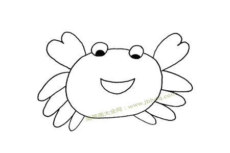 可爱的螃蟹简笔画图片