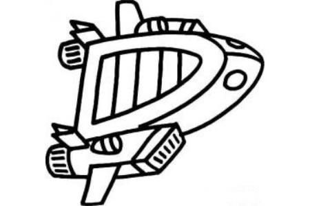 交通工具图片 宇宙飞船简笔画