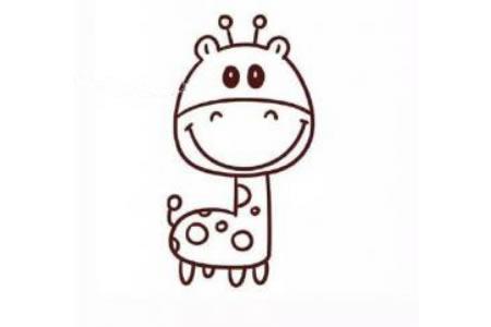 卡通长颈鹿简笔画图片