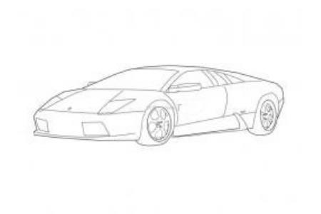 兰博基尼跑车简笔画图片