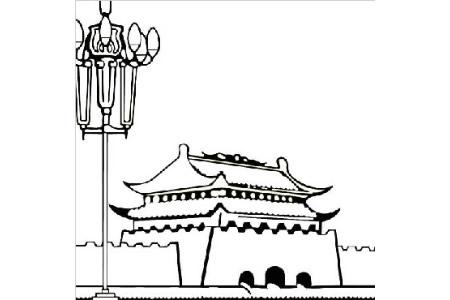 5张精选的天安门简笔画图片