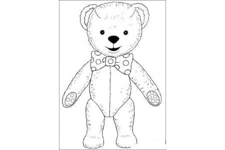 玩具熊简笔画图片