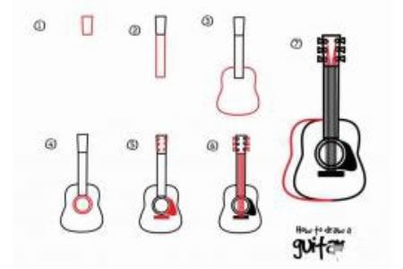 如何画吉他 吉他简笔画教程