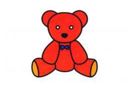 玩具小熊简笔画图片