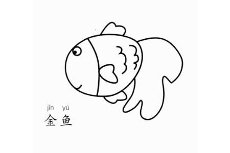 金鱼怎么画