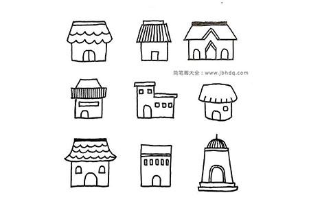81种房子的画法简笔画图片
