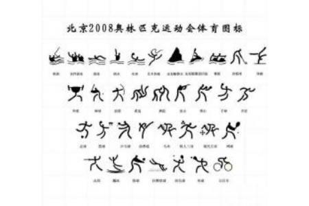 奥运会图片 奥运会体育运动标志简笔画