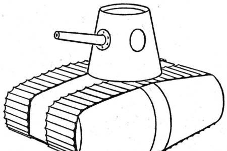 简单的坦克简笔画