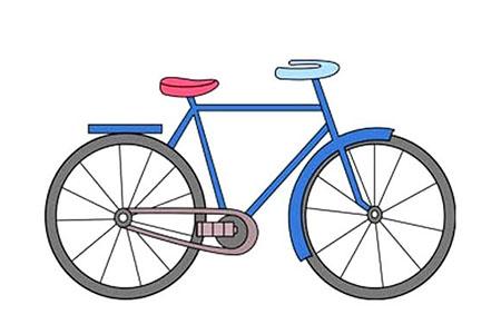 超简单画画教程 如何画自行车