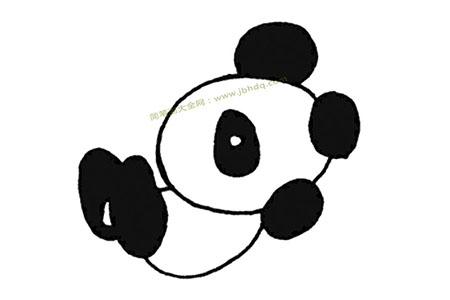 调皮的大熊猫打滚儿
