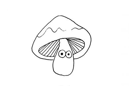 蘑菇卡通形象简笔画