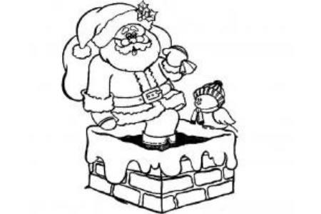 爬烟囱的圣诞老人