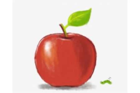 儿童画教程 苹果简笔画步骤图