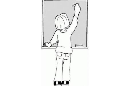 我的班主任老师背影