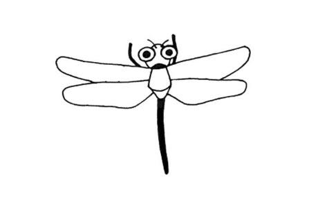 简单的动物简笔画 蜻蜓简笔画图片