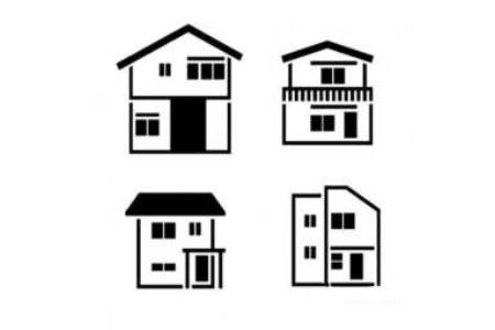 幼儿各种房子的简笔画