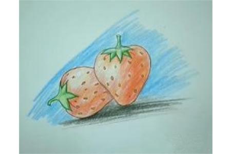 草莓的画法步骤图