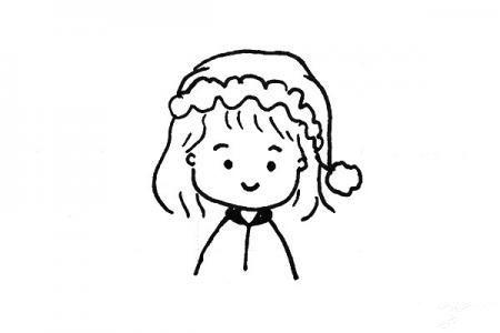一组小女孩头像简笔画