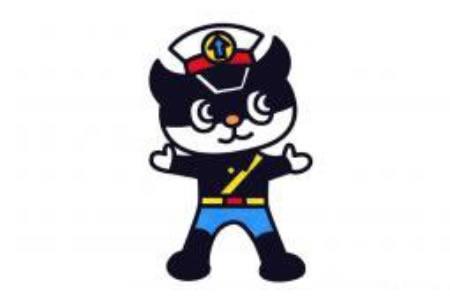 黑猫警长简笔画图片