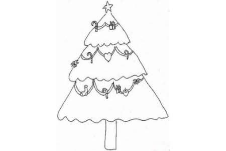 简笔画大全 圣诞树简笔画图片