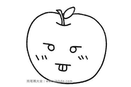 一组苹果简笔画图片
