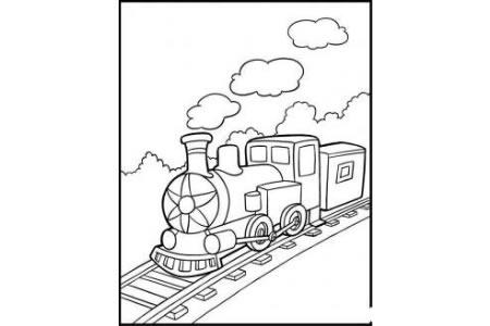 火车图片 行驶中的火车简笔画