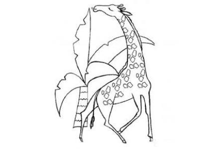 动物简笔画 长颈鹿简笔画图片