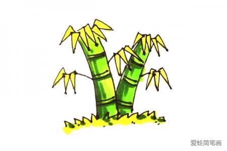 竹子怎么画