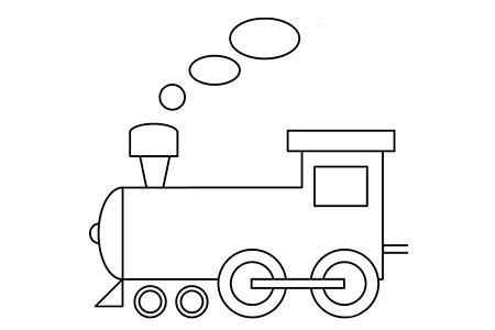 简单的火车头简笔画图片