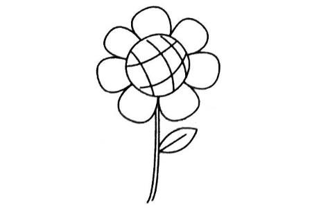 向日葵简笔画图片及画法步骤