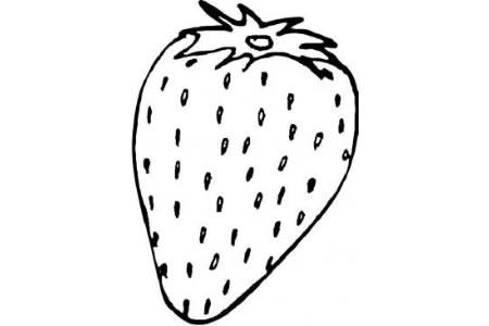 水果简笔画大全 草莓简笔画