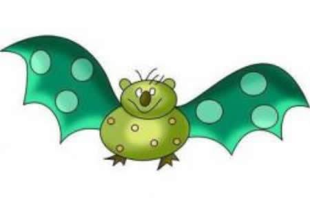 幼儿园动物简笔画教案《蝙蝠》