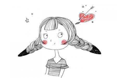 画小女孩简笔画图片