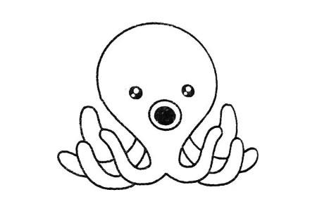 章鱼简笔画大全及画法步骤