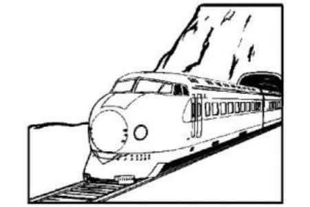 货运火车简笔画图片