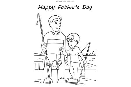 父亲节和爸爸一起钓鱼