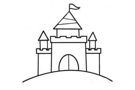 儿童建筑简笔画素材 城堡