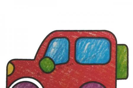 幼儿学画吉普车