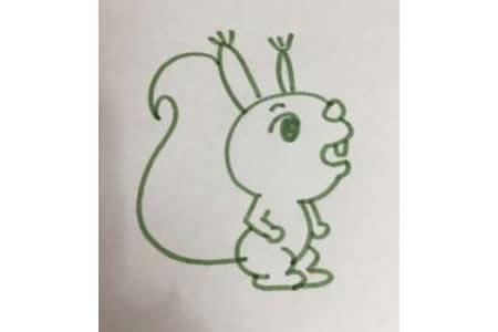 简笔画教程 松鼠简笔画步骤图