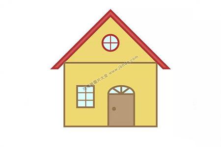 3张漂亮的小房子简笔画图片