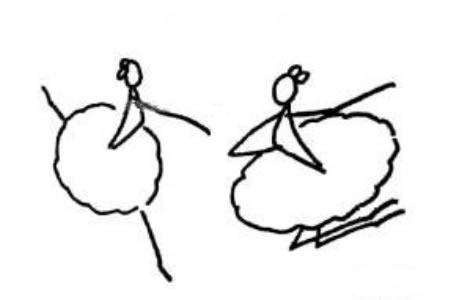 跳芭蕾舞的火柴人
