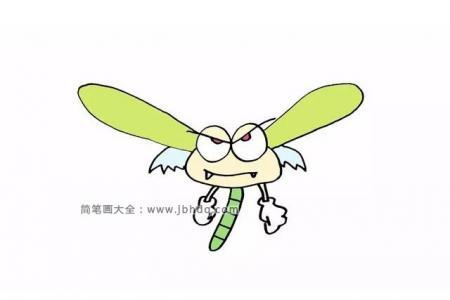 画一只凶猛的蜻蜓
